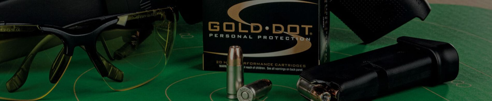Gold Dot Packaging, Magazine, and Bullets