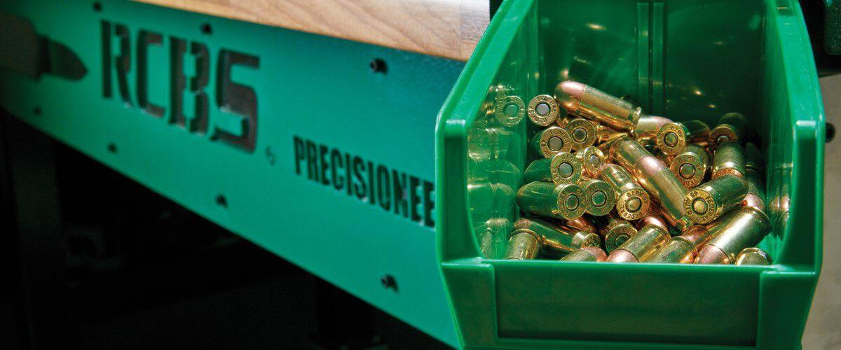 loaded cartiridges sitting in a bin