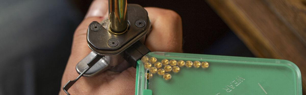 shot being loaded into a shotshell