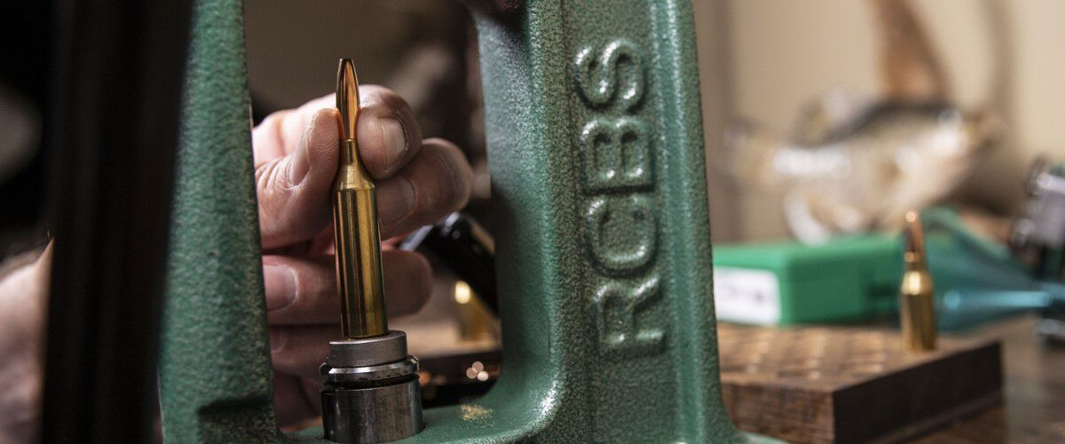 bullets being reloaded with an RCBS reloader