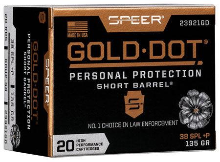 Gold Dot Short Barrel packaging