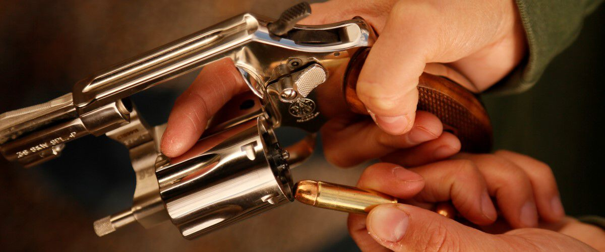 Revolvers being loaded